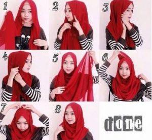 Tutorial Hijab Kerudung Pashmina Style 1